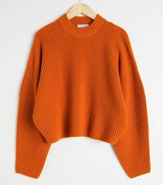 Wool Blend Rib Knit Sweater - Orange - Sweaters - & Other Stories Pullover Outfit, Sweater Dress Outfit, Sweater Outfits, Fall Outfits, Fashion Outfits, Sweater Fashion, Orange Jumpers, Orange Sweaters, Cute Sweaters
