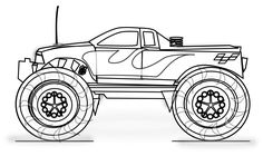 Free Printable Monster Truck Coloring Pages For Kids Monster Truck