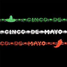 Cinco de Mayo Party Bead Necklaces (Set of 48)