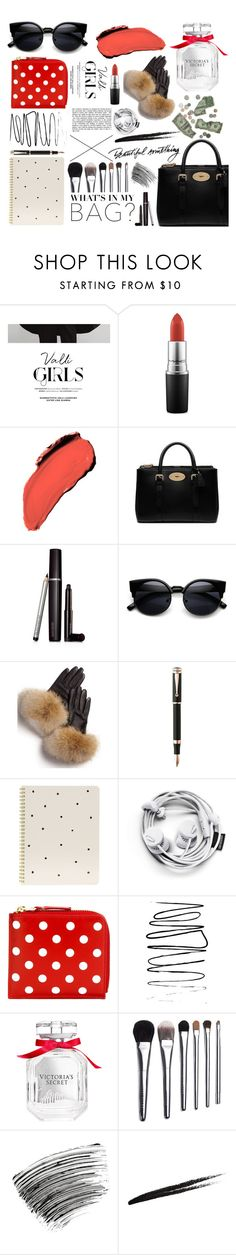 """""""tote bags. <3"""" by tatjana ❤ liked on Polyvore featuring MAC Cosmetics, Maybelline, Mulberry, Laura Mercier, FRR, Montegrappa, Sugar Paper, Comme des Garçons, Victoria's Secret and Bobbi Brown Cosmetics"""