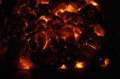 Burning Coals Tutorial - maybe for the UFO crash or weird alien pod of eggs or something