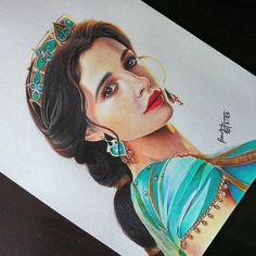 Pencil Portrait Drawing, Colored Pencil Portrait, Colored Pencil Artwork, Realistic Pencil Drawings, Amazing Drawings, Color Pencil Art, Colorful Drawings, Jasmine Drawing, Art Painting Gallery