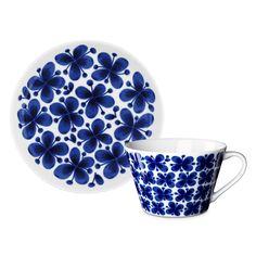 Mon Amie Tea cup and Saucer - Marianne Westman - Rörstrand - RoyalDesign.co.uk