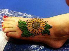 My new sunflower tattoo.