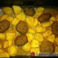 Πατάτες με πλούσια σάλτσα πάπρικας Sweet Potato, Potatoes, Vegetables, Food, Vegetable Recipes, Eten, Veggie Food, Potato, Meals