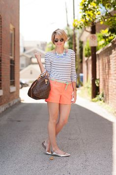 @roressclothes clothing ideas #women fashion Coral Outfit Ideas - Coral Shorts