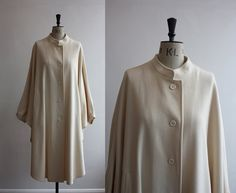 Vintage 1960s Givenchy Cape Coat