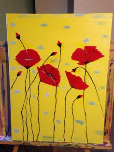A personal favorite from my Etsy shop https://www.etsy.com/listing/210516933/poppies-in-yellow-background