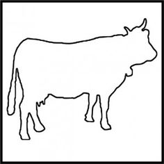 Dairy Cow craft pattern
