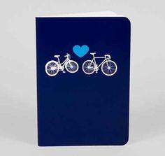 Blaues Notizbuch Bike Love