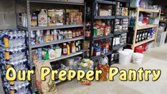 Our Prepper Pantry // Be Ready For Food Shortages! - YouTube My Patriot Supply, Emergency Food Storage, Long Term Storage, Canning 101, Disaster Preparedness, Shelf Life, Natural Disasters, Survival Tips, Pantry