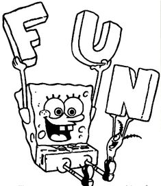 Coloringsco Funny Spongebob Coloring Pages