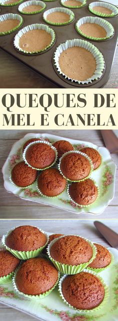 These delicious muffins blend the sweet taste of honey with cinnamon. They are easy to prepare, have excellent presentation and are very tasty. Cinnamon Cupcakes, Cinnamon Muffins, Muffins Sains, Best Nutrition Food, Nutrition Products, Health Products, Portugal, Honey And Cinnamon, Portuguese Recipes