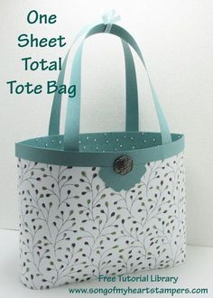 Enjoy this video tutorial on how to make my fantastic little tote basket using just one sheet of Designer Series Paper-with ZERO waste! Its such a great size, youll be so glad you learned how to do it-and its so easy to remember, youll never even hav One Sheet Wonder, Card Making Tutorials, Envelope Punch Board, Paper Gifts, Diy Gift Bags Paper, Diy Gifts, Cardmaking, Purses And Bags, Zero Waste