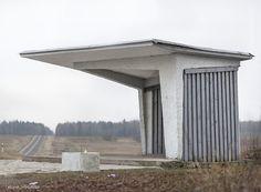 Leliunai, Lithuania. Soviet Bus Stop