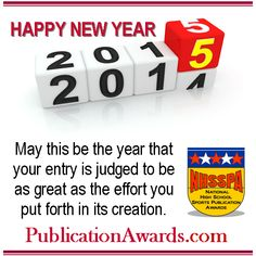 Facebook graphic promoting www.PublicationAwards.com National High School, Happy New Year, Effort, Facebook, Words, Happy New Year Wishes, Horse