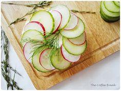 Radish and Cucumber Open Sandwich