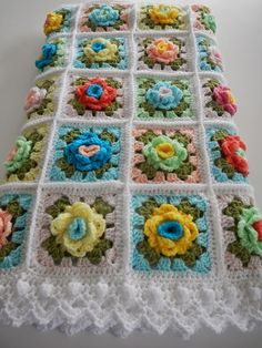 Apple Blossom Dreams: WEEK 6 - Granny Rose CAL: REVEAL