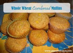 Whole Wheat Cornbread Muffins {Recipe}