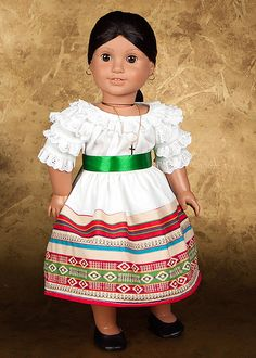 Birthday Camisa with Skirt, Sash, & Manton for the Josefina American Girl doll - Etsy