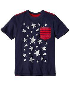 Boys Stars & Stripes Tee In Supersoft Jersey from #HannaAndersson.