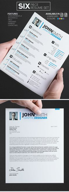 Strongly branded. Too much? | SIX Resume/CV Set by Lazar Momcilovic, via Behance