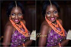 BellaNaija Bride Chiamaka Photography by GazMadu Photography   Fabrics by Mrs Ejeson Nigerian Wedding Makeup igbo wedding igba nkwu wine carrying coral beads naija bride