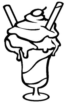 ice cream sundae coloring page cookie pinterest