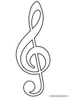 Molde Notas Musicais Moldes De Notas Musicais Simbolos