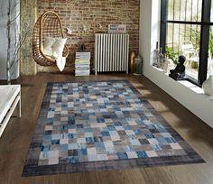 Gray Blue Contemporary Area Rugs | Bargain Area Rugs
