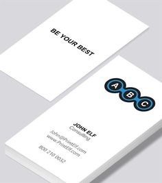 Modern contemporary business card design -Consulting business card