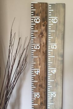 Wooden Growth Chart, Growth Chart Ruler, 6' Wood Growth Chart, Handpainted, Keepsake Ruler, Rustic Style