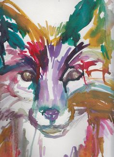 "Watercolor Painting, Titled: ""Baby Fox"" by Jessica Buhman"