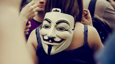 Anonymous Girl Mask Crowd Wallpaper - http://www.gbwallpapers.com/anonymous-girl-mask-crowd-wallpaper/ (Anonymous, Crowd, Girl, Mask, Wallpaper / Nature)