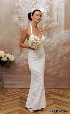 Вязаные свадебные платья / вяжем свадебные платья
