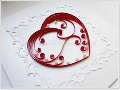 Valentine quilling heart -- via quillingowo.blox.pl