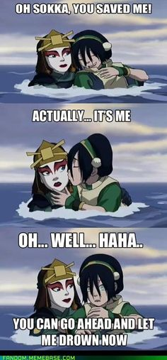 Toph definitely had a crush on Sokka, but obviously nothing came of it.