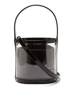 Staud Bisset PVC and patent-leather bucket bag Cow Leather, Leather Craft, Patent Leather, Leather Bag, Louis Vuitton Handbags, Purses And Handbags, Pvc Transparent, Fashion Bags, Bag Accessories