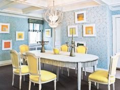Preppy dining room by Jeff Lincoln