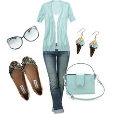 light blue fun, created by shauna-rogers
