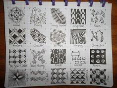 Tekenpraktijk De Innerlijke Wereld: Tangle-patronen