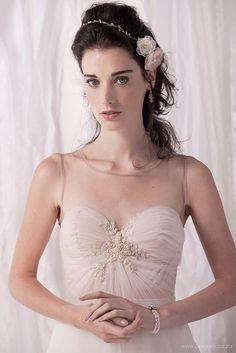 Romantic wedding dress blush wedding dress by MoltenoCreations