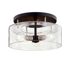 BERGAMOT STATION C7552 | Hudson Valley Lighting Group Semi Flush Ceiling Lights, Flush Mount Lighting, Flush Mount Ceiling, Glass Ceiling, Troy Lighting, Lighting Ideas, Foyer Lighting, Kitchen Lighting, Black Polish
