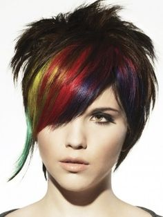 i think i'll probably end up doing something like this: rainbow on one side, and then the purple/red scattered throughout.