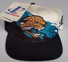 d80ce66d624 NWT Jacksonville Jaguars NFL Logo Athletic Splash Hat Pro Line Snapback  Vintage Nfl Logo