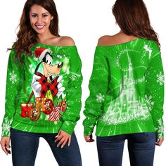 Goofy Christmas Shoulder Sweater Disney Clothes, Disney Outfits, All Design, High Definition, Christmas Sweaters, Size Chart, Just For You, Sewing, Shoulder