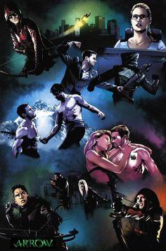 Arrow Season 3 Arrow Season 4 Will Have Lighter Tone; Season 3 Behind the Scenes Videos & Poster Arrow Movie, Arrow Tv Series, Thea Queen, Heros Comics, Dc Heroes, Martian Manhunter, Green Arrow, Deathstroke, Arrow Season 3