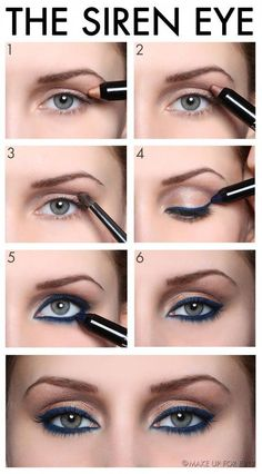 Eye makeup tutorial.                                                                                                                                                      More #EyelinerWaterline