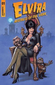 Drawing Comics Elvira Mistress Of The Dark Horror Comics, Horror Art, Arte Do Pulp Fiction, Comic Books Art, Book Art, Dark Fantasy, Fantasy Art, Elvira Movies, Desenhos Halloween