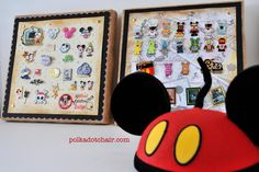 Disney Pins Display...wish I knew this when my kids were little. I'm going to go dig them up and do this :)
